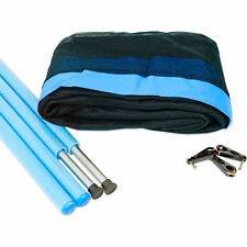 10ft Trampoline 6 Pole Safety Net & Poles in Blue