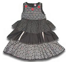 Boutique Cakewalk girly spirit gray dot tiered sleeveless dress 146/152 10 11 12