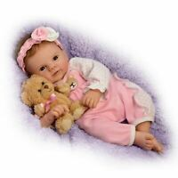 Violet Parker So Truly Real Baby Doll with Plush Teddy Bear by The Ashton-Drake