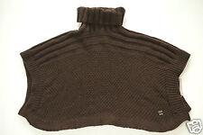 Neuf Coccinelle Manteau en laine poncho cape tricot col roulé 81cm x 95cm (145)