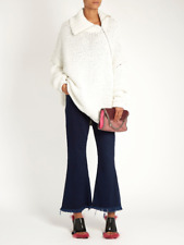 MARQUES' ALMEIDA ROLL-NECK OVERSIZED COTTON-BLEND SWEATER SMALL
