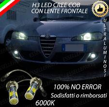 COPPIA LAMPADE FENDINEBBIA H3 LED CREE COB CANBUS PER ALFA ROMEO 147 6000K