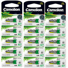 15 Stück Camelion A27 Alkali Batterie 12 V im 5er Blister Remote LR27A V27A K27A