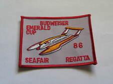 1986 Budweiser Emerald Cup Seafair Regatta Boat Racing Patch