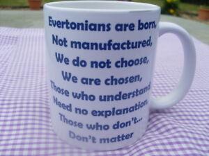 Everton supporters mug born not manufactured 11oz new Christmas / Birthday Gift