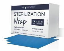 """House Brand ESW18 CSR Sterilization Wraps 18"""" x 18"""" 40g SMMS Paper 100/Bg"""