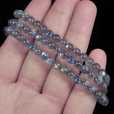5mm Natural Labradorite Round Beads Bracelet BLBb47