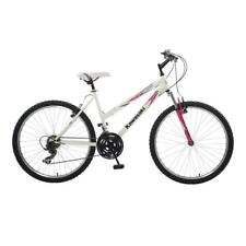 Durable White/Pink 18 in. Steel Frame K26G Hardtail Mountain Bike, 26 in. Wheels