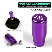 FOR JPN CAR! M10 THREADED! USA WHITE 6-SPEED LONG MANUAL GEAR SHIFT KNOB PURPLE