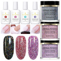 7Bottles BORN PRETTY Nail Dipping Powder Liquid Glitter Chameleon No UV Gel