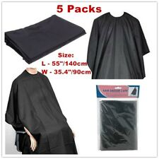 Hair Dresser Cutting Cape Gown Black Salon Barbers Hairdressing 5 PC (Brand New)