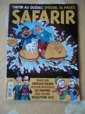 :SAFARIR TINTIN AU QUEBEC N°268 2011