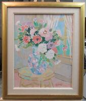 Michael J. Griffin '70s Fauvist Stil Life Flowers in Vase Listed New York Artist