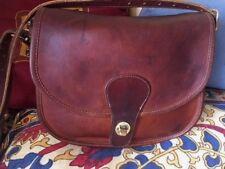 VTG COACH SADDLERY 1970s British Tan Distressed Leather XBODY FLAP BAG NYC Rare