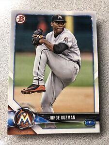 Jorge Guzman 20 Card Lot 2018 Bowman Draft Miami Marlins