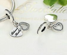 925 Silver Beloved Mother Pendant Charm With Cubic Zirconia Studs