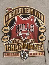 VINTAGE Chicago Bulls 1996 NBA Champions Sweatshirt Men's Size L