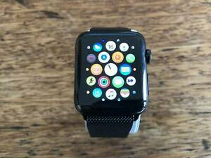Apple Watch Series 3 42mm stainless steel & black Milanese loop( GPS + Cellular)