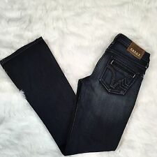 PRVCY Women's Low Rise Boot Cut Dark Wash Jean Size 26 x 33