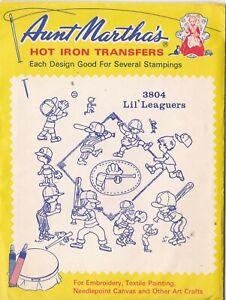 Aunt Martha's Hot Iron Transfers, Lil' Leaguers #3804