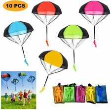Flying Parachute Toys 10Pc Hand Throwing Sturdy Tangle Free Real Landing Outdoor