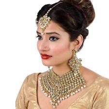 Bollywood Indian Bridal Wedding Jewelry Jodha Akbar Kundan Necklace Set 7 Pcs