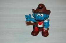 Schtroumpf , schleich  Portugal ,  PEYO  cowboy  1981