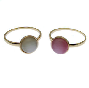Rose Gold Opal Ring Droplet Style White or Pink Solitaire Size L N O P S