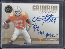 ARIAN FOSTER 2009 PRESS PASS GRIDIRON INSCRIBED PEACE TO THE GLOBE AUTO RC 1/1 ?