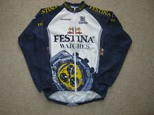 Festina Watches Peugeot Sibille Italian L/S cycling jersey [2XL] NOS