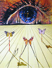 Salvador Dali Eye of Surrealist Time canvas print giclee 8X12&12X17 reproduction