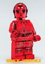 Custom Lego Star Wars Minifigure Chrome Red C-3PO C3PO Machine Pad Print