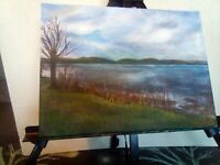 Landscape painting from Kirn near Dunoon Scotland  30x40 on canvas by John Jones