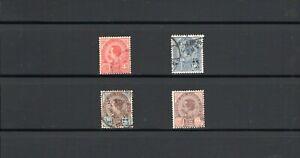 Thailand -- King Chulalongkorn -- 4 diff used from 1899-1904 -- cv $55.25