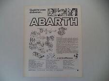 advertising Pubblicità 1976 ABARTH RICAMBI MARMITTE/MOTORE/CASCHI/VOLANTI