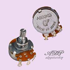 2 x POTENTIOMETRE (s)  Japan 500 Ko Audio axe fendu 6/8 mm POT EA500