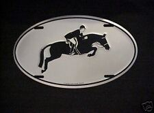 Sporthorse Hunter  Design Euro Oval Auto Tag
