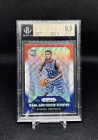 2015-16 Panini Prizm Red White Blue Karl Anthony Towns RC BGS 9.5 Card No #328