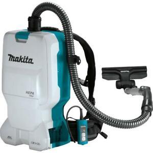 Makita Backpack Dry Vacuum 8-Volt X2 Cordless 1.6 Gal HEPA Filter (Tool-Only)