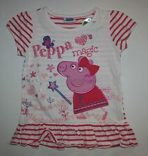 New Peppa Pig Applique Tunic Top Peppa Loves Magic Size 2T 3T 98cm