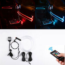 4M RGB LED Car Interior Decor Atmosphere Light Strip 12V Console Lamp Trim Kit