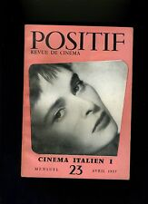 Cinéma revue POSITIF 23/1957 Cinéma italien Géant Courte tête La blonde et moi
