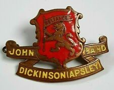 More details for john dickinson (apsley) band enamel hat badge - london southern counties 1930's