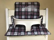 Cushion to fit Stokke Tripp Trapp High Chair NEW wipeable tartan BNIB
