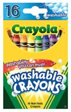 Crayola Washable Crayons 16 Each (Pack of 2)