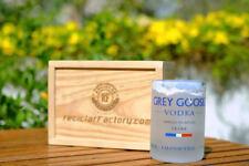 GREY GOOSE VODKA ROCKS DRINKING GLASSES | TUMBLER /MADE FROM THE BOTTLE