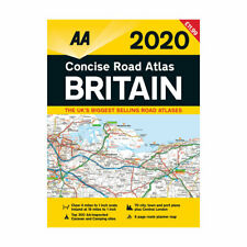 AA Concise Road Atlas Map Britain 2020 Spiral Bound Latest Edition (81503)