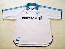 Olympique Marseille 1999/2000 Home Football Jersey Adidas Soccer Maillot Size XL
