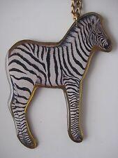 Zebra Necklace - handmade using vintage materials