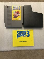 Super Mario Bros. 3 (Nintendo Entertainment System, 1990)-Tested with manual.